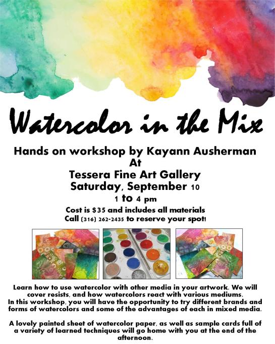 watercolor in the mix flyer tessera