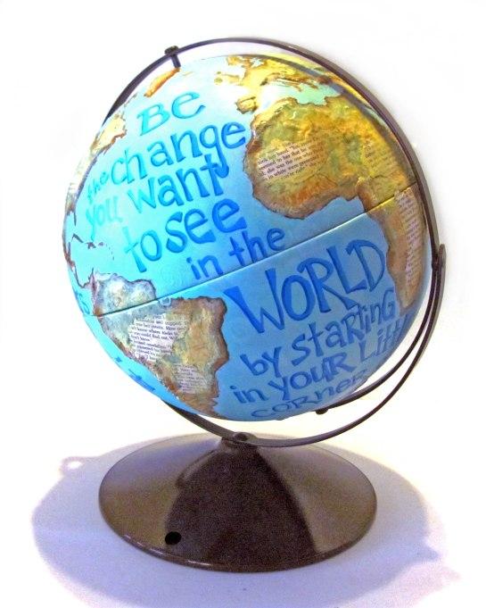 globe-painted