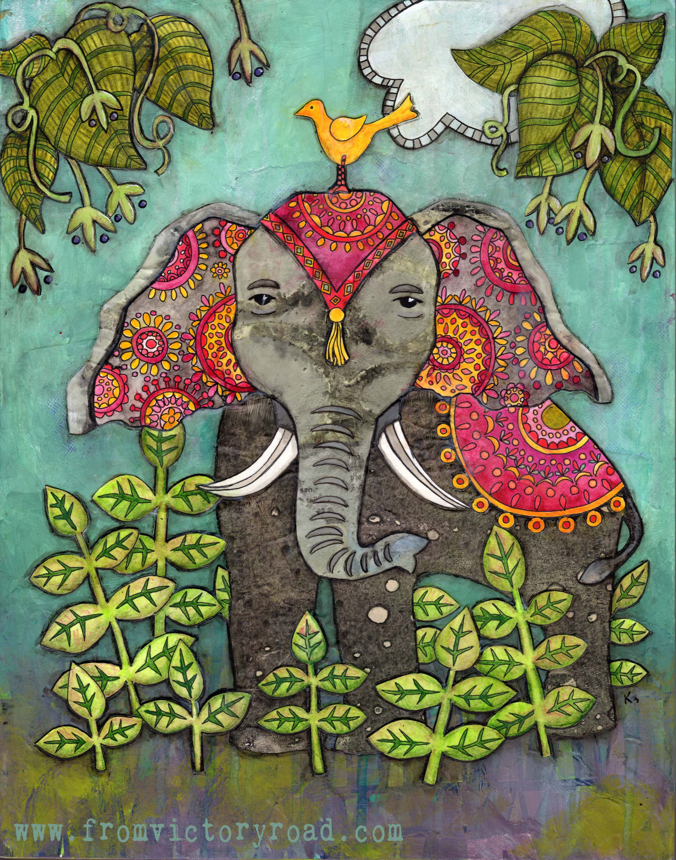 boho elephant coloring page from victory road